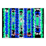 Cool blue green and black psychedelic rectangles greeting card