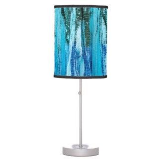 Cool Blue/Green Tie-Dye Table Lamp
