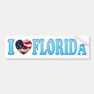 Cool Blue I heart Florida - Bumper Sticker