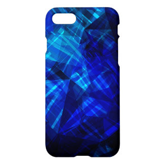 Cool Blue Ice Geometric Pattern iPhone 7 Case
