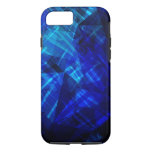 Cool Blue Ice Geometric Pattern iPhone 7 Case