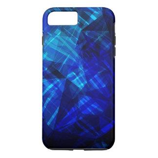 Cool Blue Ice Geometric Pattern iPhone 7 Plus Case