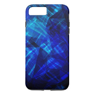 Cool Blue Ice Geometric Pattern iPhone 8 Plus/7 Plus Case