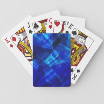 Cool Blue Ice Geometric Pattern Playing Cards