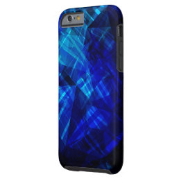Cool Blue Ice Geometric Pattern Tough iPhone 6 Case