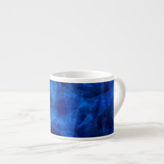 Cool Blue Ice Geometric Shards Espresso Cup
