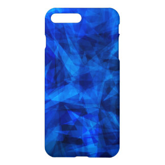 Cool Blue Ice Geometric Shards iPhone 7 Plus Case