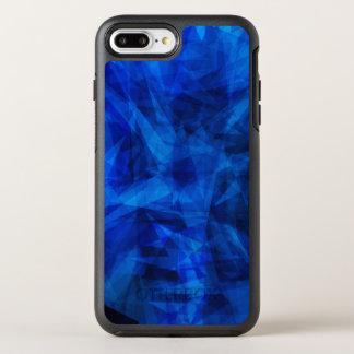 Cool Blue Ice Geometric Shards OtterBox Symmetry iPhone 7 Plus Case