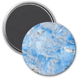 Cool Blue Iceberg 3 Inch Round Magnet