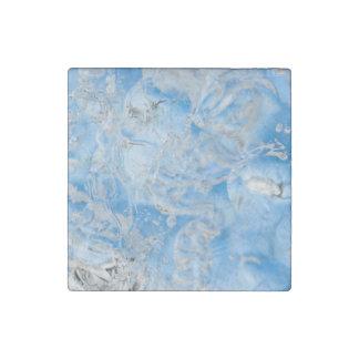 Cool Blue Iceberg Stone Magnet