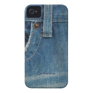 Cool Blue Jean & Pocket with Custom Name | Case-Mate iPhone 4 Cases