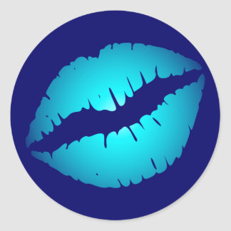 Cool Blue Kiss Stickers