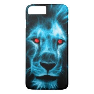 Cool Blue Lion With Blue Eyes Portrait iPhone 7 Plus Case