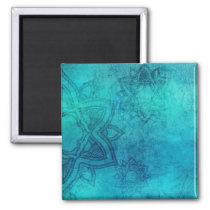 Cool Blue Mandala Magnet