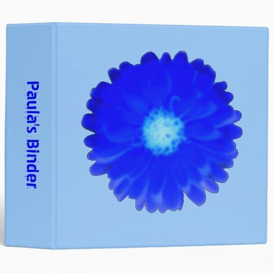 Cool Blue Marigold Custom Binder