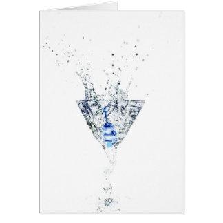 Cool Blue Martini Card