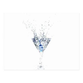 Cool Blue Martini Postcard