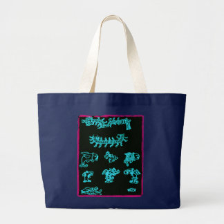 Cool Blue Mayan Design Bag