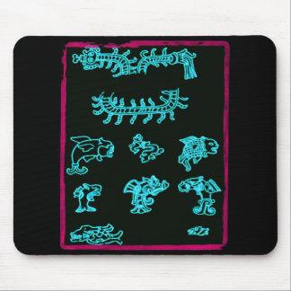 Cool Blue Mayan Design Mouse Mats