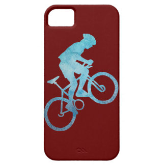Cool Blue Mountain Biker iPhone 5 Cases