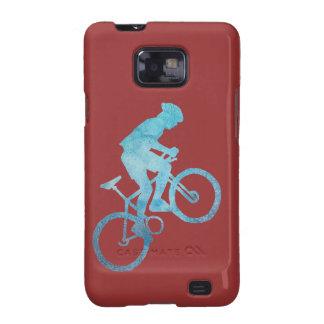 Cool Blue Mountain Biker Samsung Galaxy SII Case