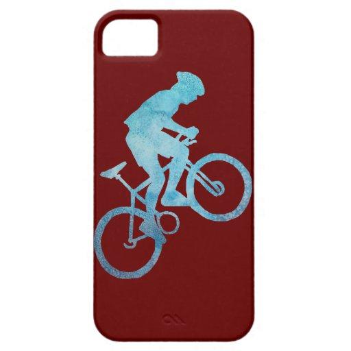 Cool Blue Mountain Biker iPhone SE/5/5s Case