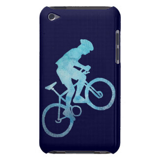 Cool Blue Mountain Biker iPod Touch Case