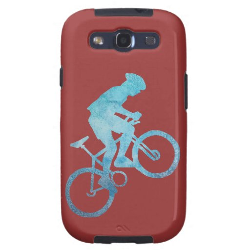 Cooling Case For Samsung Galaxy S3 : Cool blue mountain biker samsung galaxy s cases zazzle