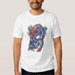 Cool Blue Oriental Dragon Tattoo Shirt
