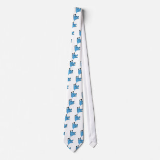 Cool Blue Origami Dog Tie