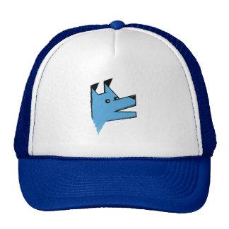 Cool Blue Origami Dog Trucker Hat