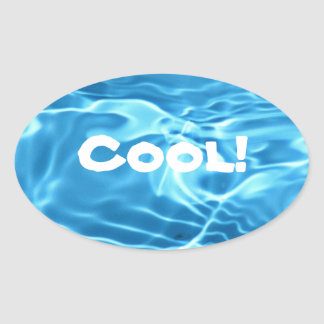 Cool Blue Oval Sticker