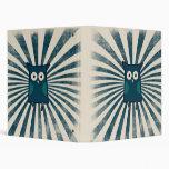 Cool Blue Owl Art Binders