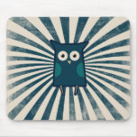 Cool Blue Owl Mouse Pad