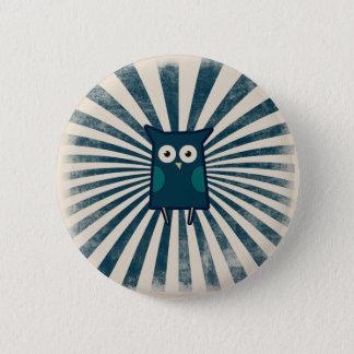 Cool Blue Owl Pinback Button