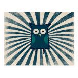 Cool Blue Owl Postcard