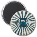 Cool Blue Owl Refrigerator Magnets