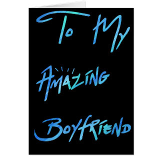 """Cool Blue Paint Look  """"To my Boyfriend"""" Card"""