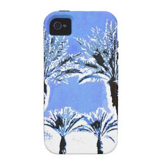 Cool Blue Palm Trees Paradise Beach Theme Decor iPhone 4/4S Case