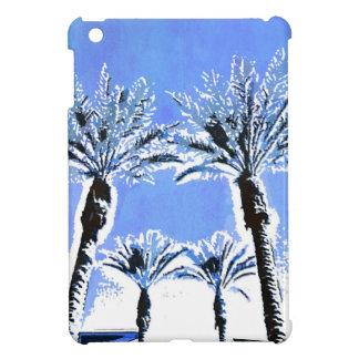 Cool Blue Palm Trees Paradise Beach Theme Decor Case For The iPad Mini