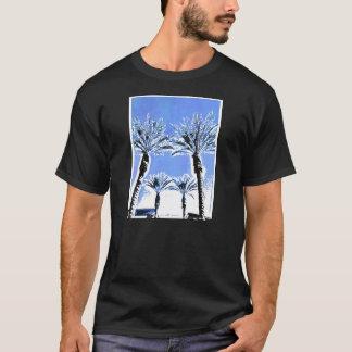 Cool Blue Palm Trees Paradise Beach Theme Decor T-Shirt