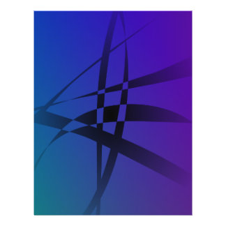 Cool Blue Purple Black Abstract Flyer