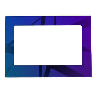 Cool Blue Purple Black Abstract Magnetic Photo Frame