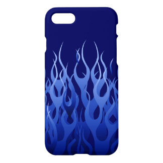 Cool Blue Racing Flames iPhone 7 Case