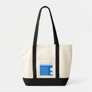 Cool Blue Radio Tote Bags