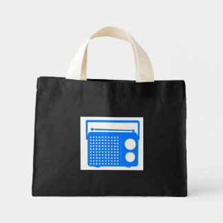 Cool Blue Radio Canvas Bags