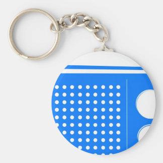 Cool Blue Radio Keychain