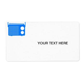 Cool Blue Radio Shipping Label
