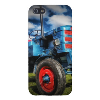 Cool Blue Red Antique Tractor Gifts for Farmers iPhone SE/5/5s Cover