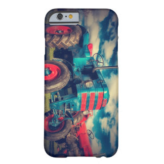 Cool Blue Red Vintage Tractor Barely There iPhone 6 Case